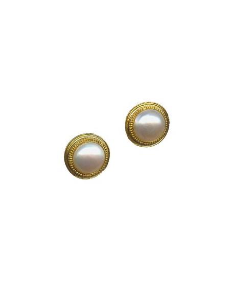 Σκουλαρίκια με μαργαριτάρι