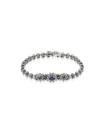 Bracelet with sapphires